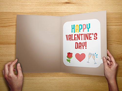 Kissing Emoji Valentines Day Card Super Sized Simple And Funny