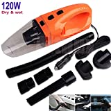 12V 120W Rechargeable Orange Vehicle Car Handheld Vacuum Cleaner Wet & Dry Kits