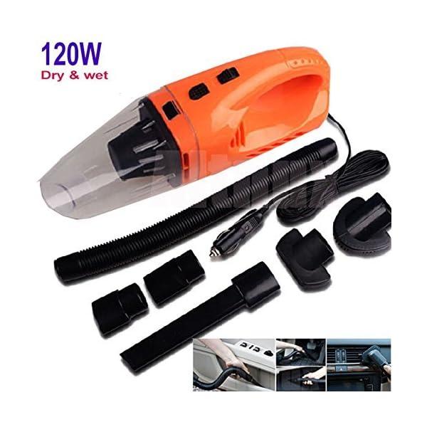 12V 120W Rechargeable Orange Vehicle Car Handheld Vacuum Cleaner Wet & Dry Kits