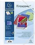 Chemise 3 rabats élastiques polypro personalisable A4 Blanc Transparent