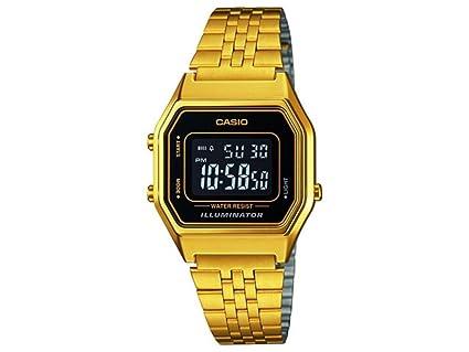 Casio Women's Digital Watch with Stainless Steel Bracelet - LA680WEGA-9BER   Amazon.co.uk  Watches 149f136d4cd9
