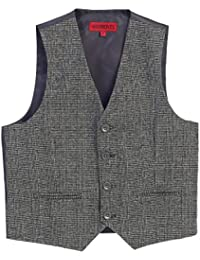 Boy's Plaid Formal Suit Vest