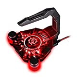 Mouse Bungee by ENHANCE - GX-B1 Mouse Cord Bungee Holder and Active 4-Port USB Hub with Red LED Lighting – Boost Gaming Accuracy By Eliminating Cable Drag – for Dota 2 , League of Legends and More