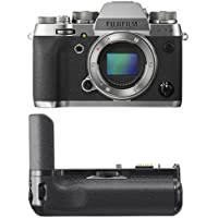 Fujifilm X-T2 Mirrorless Digital Camera Body - Graphite Silver w/ Vertical Power Booster Grip