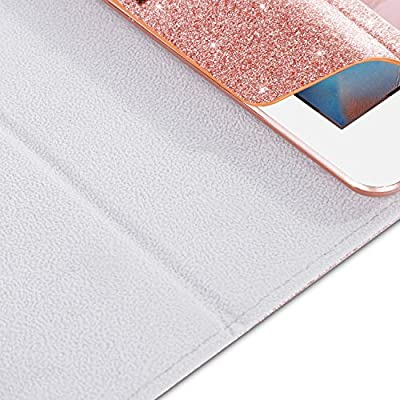 iPad 2017 iPad 9.7 inch Case, BENTOBEN Glitter Sparkle Folio Folding Stand Smart Cover Stylus Holder Auto Wake/Sleep Luxury Faux Leather Protective Case for Apple iPad 5th Generation 9.7 inch(2017) by BENTOBEN