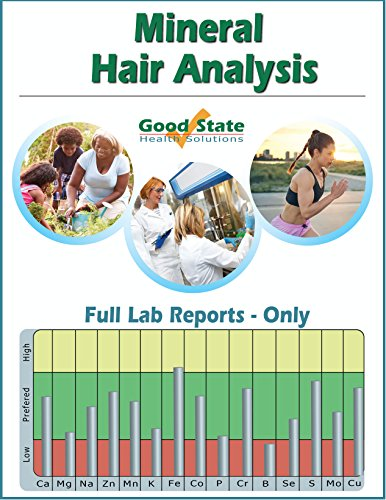 Mineral Hair Analysis - Reports Only - Includes Test Sample Collection Kit and Pre-Paid Sample Return - Collect Label Returns