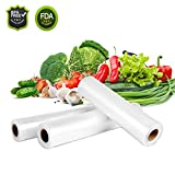 Vacuum Sealer Roll Bags, EIVOTOR 3 Mix Size 5.9''/7.9''/9.8'' X 196.85'' Embossed Commercial Grade Food Saver Bags, Storage Packaging, Sous Vide Cooking, BPA Free FDA Approval Transparent Varisized