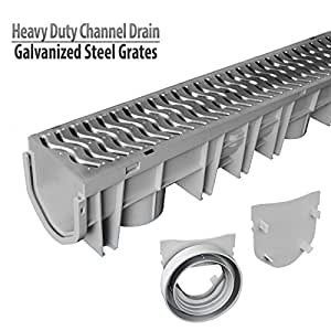 Source 1 Drainage Trench Amp Driveway Channel Drain Kit With
