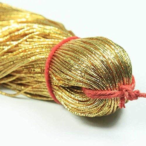 Nakshi 1MM DM 50 Yard//Packet Bullion//Nakshi Metallic French Wire in Silver Color