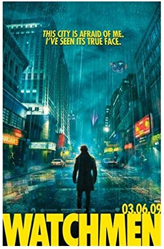Costumed Vigilante (Watchmen City Street Quote Action 36x24 Movie Art Print Poster Wall Decor Superhero Comic Book Costumed vigilante Rorschach)