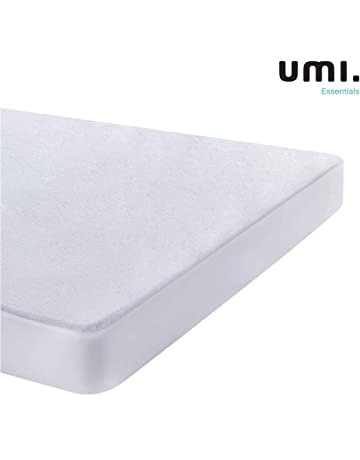 UMI. Essentials - Protector de colchón de Rizo algodón Impermeable y Transpirable