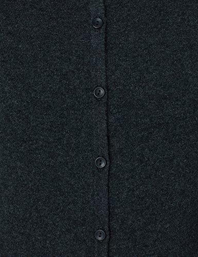 Gris Col Cardigan du en MERAKI Charcoal Ras Cou Coton Femme Iw8fx