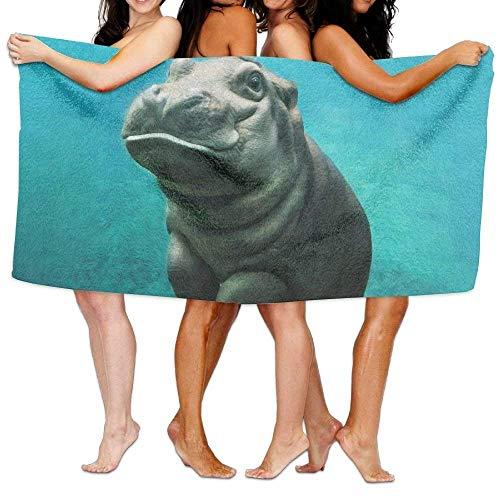 JOMYY-bath-towels Toallas de baño, Lindo hipopótamo para bebé, Supersuave, Ultra Absorbente, para Hombres, Mujeres,...