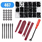 Voilamart 467 Pcs Car Retainer Clips & Plastic Fasteners Kit - 19 Most Popular Sizes Auto Push Pins Rivets Set -Door Trim Panel Clips Universal Fit for Ford Toyota Honda Chrysler