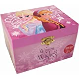 Disney Frozen Winter Wishes Wind Up Music Box with Elsa, Anna and Olaf
