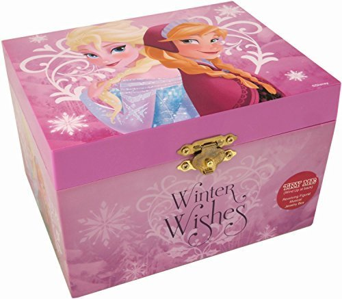 Disney Frozen Winter Wishes Wind Up Music Box with Elsa and Anna by Disney