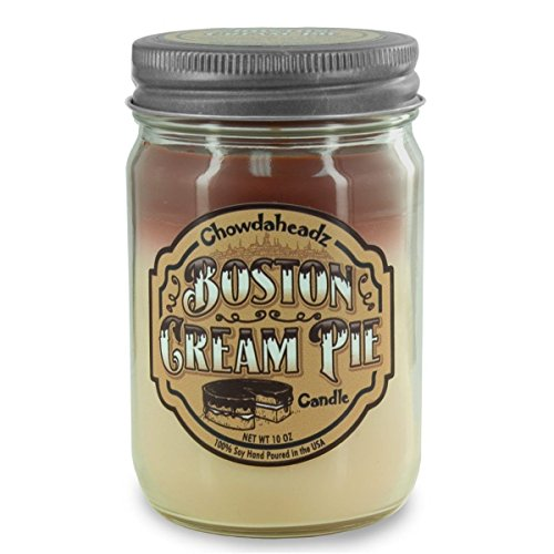 Chowdaheadz Boston Cream Pie Candle 100% Soy, All Natural, Made In The USA