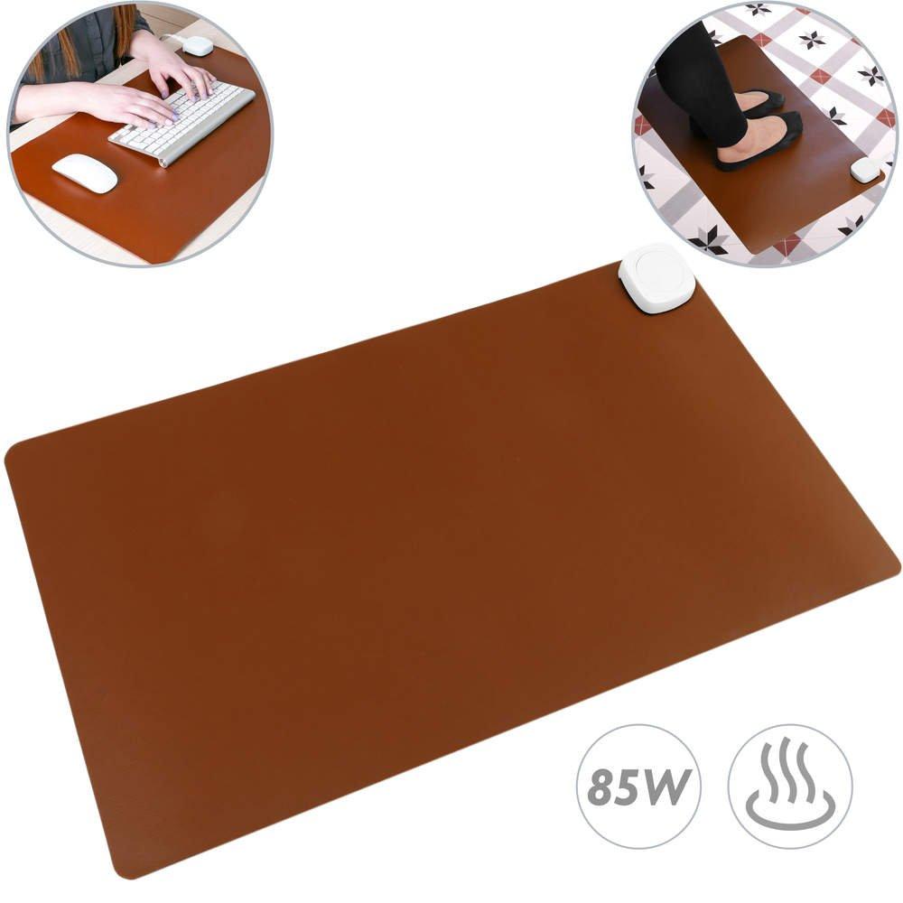 PrimeMatik - Heizteppich Thermisches Heizmatte Beheizter Teppich Pad-Schreibtisch 60x36cm 85W braun PrimeMatik.com