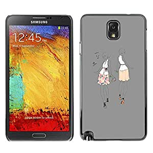 PC/Aluminum Funda Carcasa protectora para Samsung Note 3 N9000 N9002 N9005 grey music dance party fashion woman / JUSTGO PHONE PROTECTOR