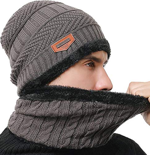 T WILKER Beanie Hat Scarf and Touchscreen Gloves