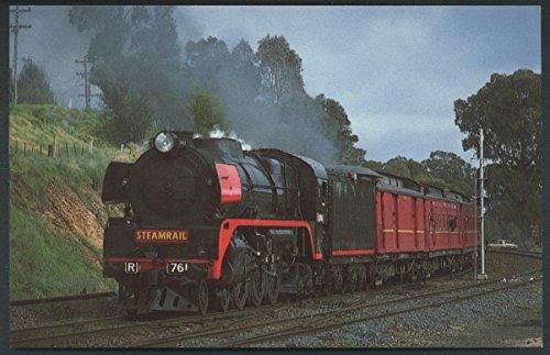 Victorian Railways Steam R761 Hudson 4-6-4 British Train Railroad Postcard