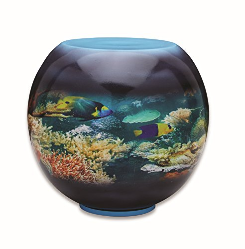 Creekside Memorials Beautiful Hand Painted Adult Cremation Urn for Human Ashes - Gorgeous, Unique Large Hand Painted Fish Bowl Urn - X Large Size Fits Remains of Adults up to 260 lbs