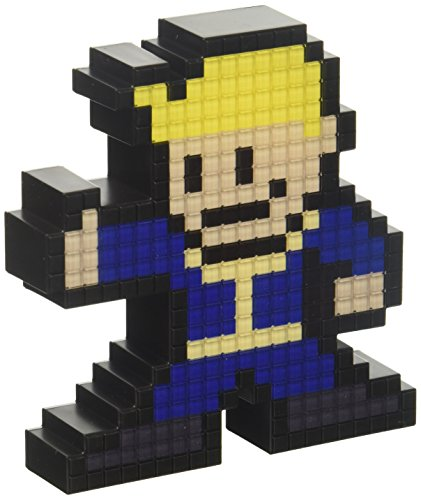 PDP Pixel Pals Fallout 4 Vault Boy Collectible Lighted Figure, 878-021-NA-VLT-NB -