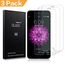 iPhone 6/6S/7 Screen Protector, 3-Pack Premium Tempered Glass Screen Protector Film Bubble Free