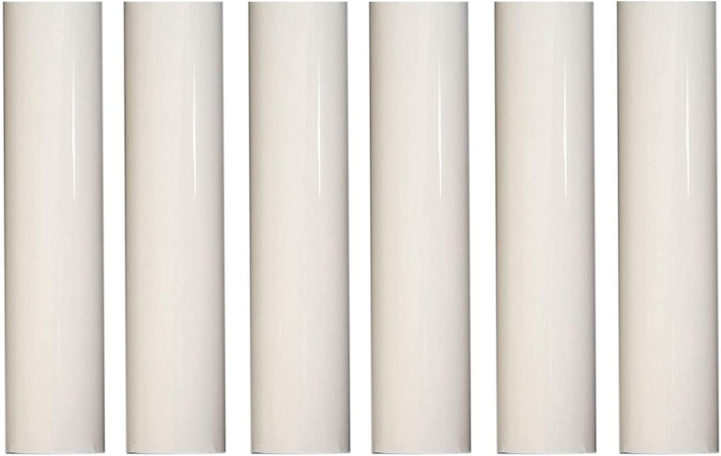 Set of 6 4 Inch Tall White Plastic Candle Covers Socket Creative Hobbies 1751