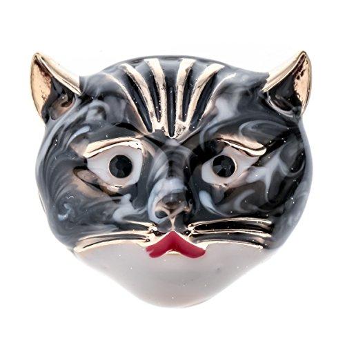 Szxc Jewelry Women's Halloween Ceramic Cat Brooch Pin