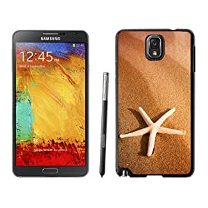 NEW Unique Custom Designed Samsung Galaxy Note 3 N900A N900V N900P N900T Phone Case With Starfish And Sand_Black Phone Case