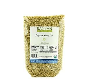 Banyan Botanicals Yellow Mung Dal - USDA Organic - Non GMO - Ayurvedic Food for Kitchari & Cleansing, 1.65 lbs