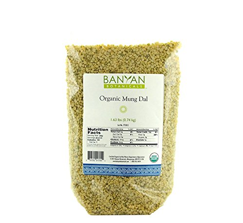 Price comparison product image Banyan Botanicals Yellow Mung Dal - USDA Organic - Non GMO - Ayurvedic Food for Kitchari & Cleansing,  1.65 lbs
