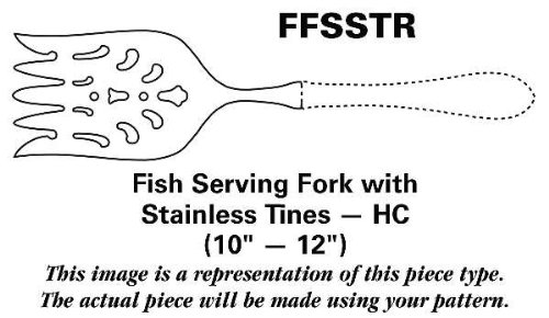 Mikasa Silver French Countryside Fish Serving Fork with Stainless Tines HC (Mikasa Fish)
