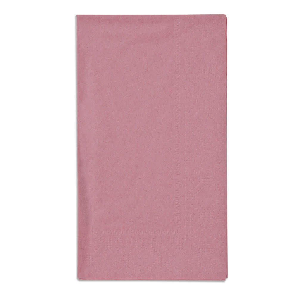 Hoffmaster 180525 Dusty Rose Pink 15'' x 17'' Embossed Paper Dinner Napkins 2-Ply - 125/Pack
