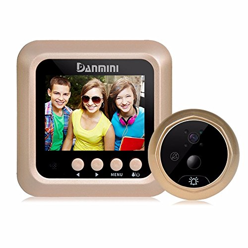 Lcd Security Camera Monitor 165° Wide Angle Lens Video Record Photo Shooting No App Peephole Smart Easy Installation Night Vision Led Screen Motion Sensor Hd Cam Recordphoto ()