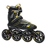 K2 Skate Men's MOD 110 Inline Skate, Gray Black Yellow, 11.5