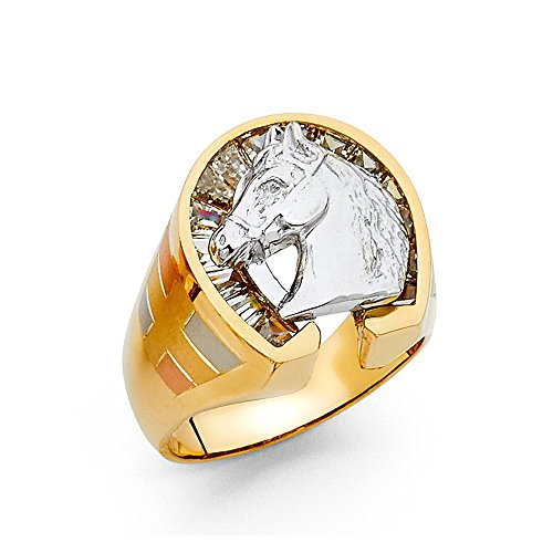 14K Solid Yellow Gold Cubic Zi