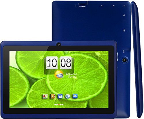 iRola [7 INCH] Quad Core [Android 4.4 KitKat] HD Tablet PC- 8GB Storage W/ 32GB Expandable Memory, 1024x600, Dual Camera, WiFi & Bluetooth, Micro USB/SD Card Slot, Google Play Apps- (Blue)
