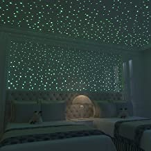 Glow In The Dark Stars: 824 Realistic 3D Stars For Ceiling Or Walls In 4 Sizes â Twice The Glow Powder To Glow Brighter And Longer â More Realistic Looking Than Typical Glow In The Dark Stickers