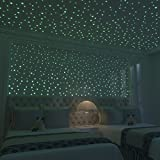 Glow In The Dark Stars: 824 Realistic 3D Stars For Ceiling Or Walls In 4 Sizes – Twice The Glow Powder To Glow Brighter And Longer – More Realistic Looking Than Typical Glow In The Dark Stickers
