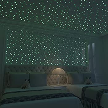 Glow In The Dark Stars: 824 Realistic 3D Stars For Ceiling Or Walls In 4