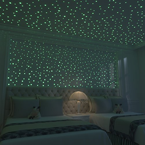 Glow In The Dark Stars: 824 Realistic 3D Stars For Ceiling Or Walls In 4  Sizes Twice The Glow Powder To Glow Brighter And Longer More Realistic  Looking Than ...