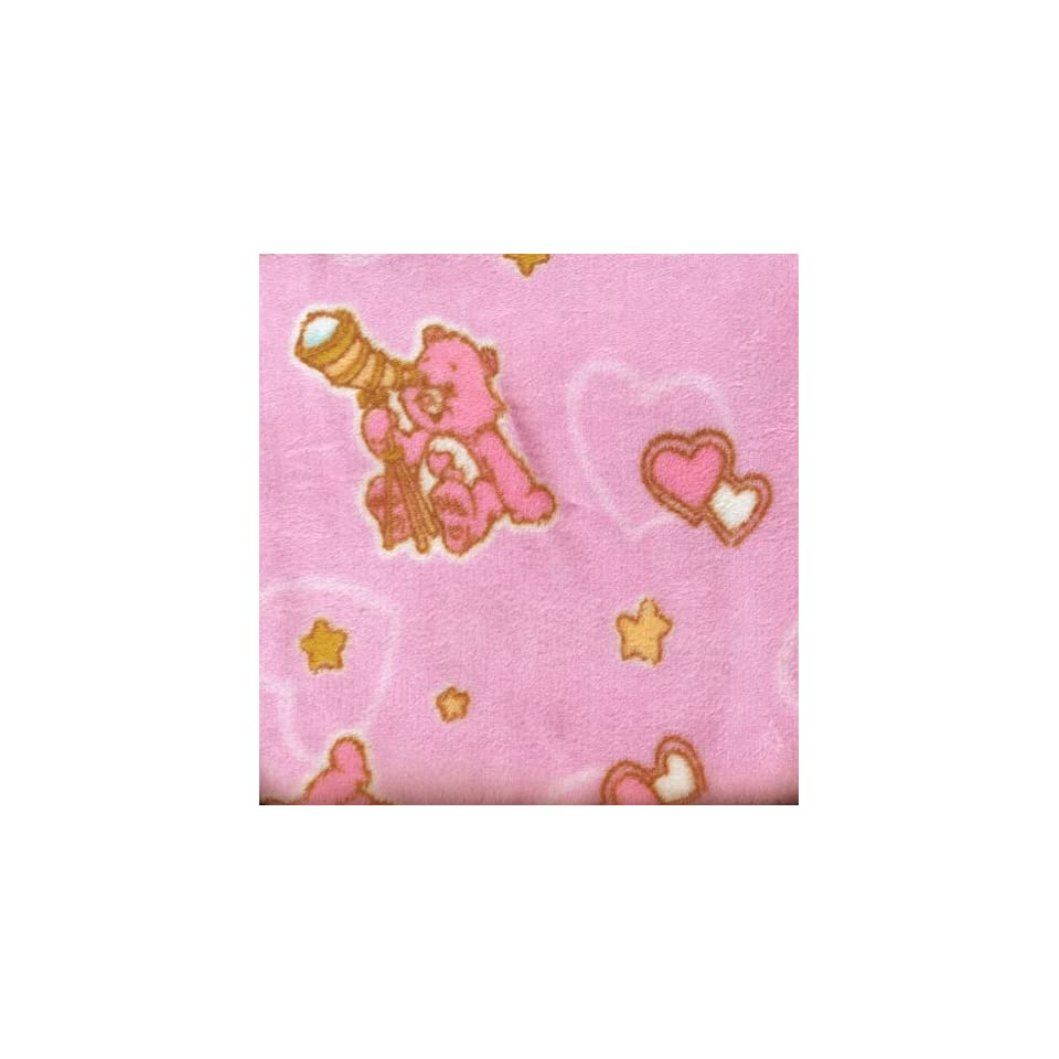 Care Bears baby cozy plush blanket with satin trim NEW