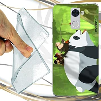 CUSTODIA COVER CASE NINJA PANDA PER HUAWEI Y7: Amazon.es ...