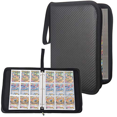 Totem World 3-Ring Black Zipper Binder with 40 9-Pocket Side-Loading Pages - Fits Pokemon, Yu-Gi-Oh, and Magic The Gathering Cards - Holds Up to 720 Cards (Best Magic Card In The World)
