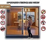 Magnetic Screen Door for 72''x80'' French Door, Durable Fiberglass Double Door Screen Mesh Curtain Fits Door Opening up to 70'' x79'' Keep Bugs Out
