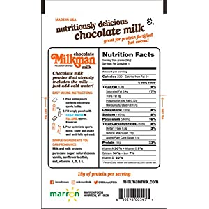 Milkman Chocolate Milk with 18g of Protein – Instant Dry Chocolate Milk Powder (2 Packets)