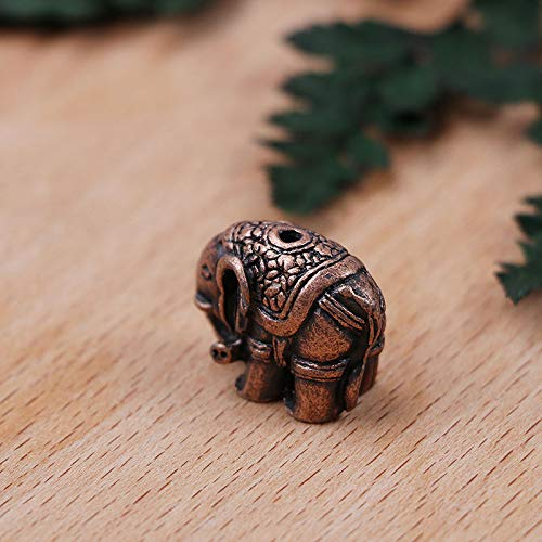 (Delicate Shape 1hole Alloy Elephant Incense Burner Holder Censer Plate for Sticks Use in Home Office )