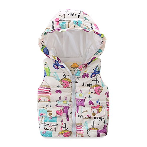 Mud Kingdom Girls Vest with Hood Cute Outerwear Animal Downward Size 6 7 -